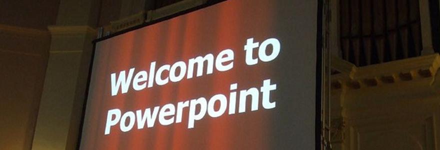 une présentation PowerPoint